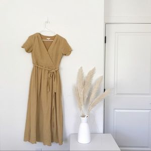 Rylee and Cru | Mustard Eyelet Dress